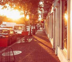 Sunrise sidewalk